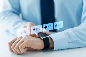 Man wearing a smart watch