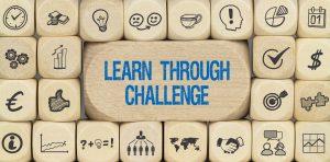 Learn through Challenge / Würfel mit Symbole